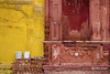 Entrance of Samadhi of Ranjit Singh, Lahore - Pakistan (LubnaJavaid) Tags: samadhi ranjit singh entrance yellow red kharak sikh religion peace lahore white wall holy worship travel color