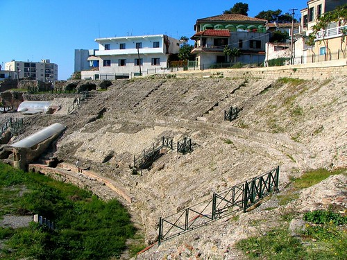 Amphitheatre Durres which was found accidentily during works in the 20th century and then excavated