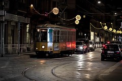 Tram... (Yaoluca) Tags: tram milan night evening light city traffic