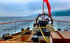 Scotland West Highlands Argyll at sea a car ferry behind the paddle steamer Waverley heading for Port Tarbert 21 June 2017 by Anne MacKay (Anne MacKay images of interest & wonder) Tags: scotland west highlands argyll sea ship car ferry paddle steamer waverley heading loch fyne coast xs1 21 june 2017 picture by anne mackay