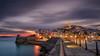 Disfrutando del encanto de Dalt-Vila , Ibiza ... (Anton Calpagiu) Tags: ibiza daltvila sunset autumn colors blue red clouds old town walls ancient baleares samyang