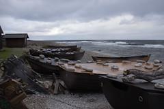 Fishingboats on the beach (Yvonne L Sweden) Tags: fårö gotland beach fishingboat sweden october