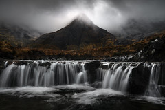 Prophecy (DBPhotographe) Tags: landscape waterfall river long exposure sky glow light isle skye fairy pools scotland mood dark atmosphere autumn sony a7r2 filters nd gnd nisi lee