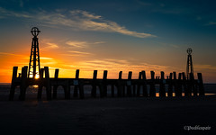 Just Another Sunset (Peeblespair) Tags: england travel withandy britain stannespier landingjetty coastal sunset stannes victorianarchitecture peeblespair peeblespairphotography