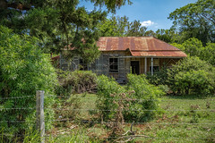 Abandoned House (hotpotato70) Tags: rosewood laidley road grandchester queensland australia colour color canon7d colorefexpro4 green grass house roof rust abandoned derelict old home neglected summer fence property abode 2470mm tamron