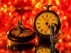 351/365 MacroMonday - LitByCandelight - Watch repair (J.Weyerhäuser) Tags: litbycandlelight hmm macromonday candlelight watch uhrmacher tinypeople h0 cadle foil mirror spiegel red rot bokeh makro studio