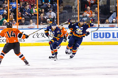 "Kansas City Mavericks vs. Colorado Eagles, December 16, 2017, Silverstein Eye Centers Arena, Independence, Missouri.  Photo: © John Howe / Howe Creative Photography, all rights reserved 2017. • <a style=""font-size:0.8em;"" href=""http://www.flickr.com/photos/134016632@N02/39106604232/"" target=""_blank"">View on Flickr</a>"