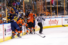 "Kansas City Mavericks vs. Colorado Eagles, December 16, 2017, Silverstein Eye Centers Arena, Independence, Missouri.  Photo: © John Howe / Howe Creative Photography, all rights reserved 2017. • <a style=""font-size:0.8em;"" href=""http://www.flickr.com/photos/134016632@N02/39106655312/"" target=""_blank"">View on Flickr</a>"
