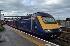 Great Western Railway HST 43018 (Will Swain) Tags: gloucester station 21st september 2017 train trains rail railway railways transport travel uk britain vehicle vehicles country england english west gwr first group great western hst 43018 class 43 018 18