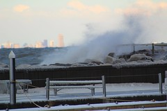 Christmas Day! (sabresfreak) Tags: mist landscape frigid merrychristmas boats launch ropes doc breakwall freeze icecicles picnictable december harbor newyork ny buffalo sturgeonpoint rough breeze newcamera greatlakes waves snow cold canonrebelt6 windy ice water lake lakeerie winter christmas