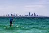Stand Up Paddle Boarder (stevepaustin) Tags: goldcoast turquoisewater ocean sup australia beach outdoors paddleboard aqua watersports currumbin sea