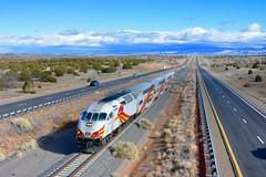 Rail Runner Express in Santa Fe (MikeArmstrong) Tags: new mexico commuter train rail runner santa fe albuquerque