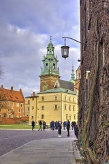 Wawel Castle, Krakow, Poland (Cat Girl 007) Tags: poland krakow culture palace fort europe medieval historic landmark wall building stone tower castle old sky tourism travel architecture ancient outdoors daytime vertical people wawel