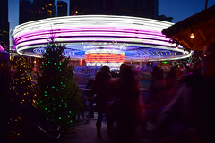 Another year gone by (James_D_Images) Tags: carousel merrygoround lights night buildings people longexposure blur motion vancouver britishcolumbia christmas market trees