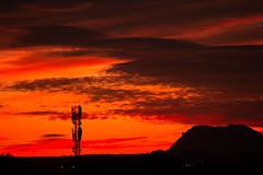 Antena (mandoft) Tags: montaña atardecer edificio cielo landscape antena rojo nube elcampello comunidadvalenciana españa es