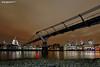 The Millennium Bridge and St Paul's (Nigel Blake, 15 MILLION views! Many thanks!) Tags: the millennium bridge st pauls london cityscape city night nighttime dark evening 2017 lights offices appartments thethames thames river