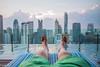 Relaxing at the infinity pool - Hotel Indigo in Bangkok (patuffel) Tags: wireless road indigo hotel infinity pool skyline bangkok