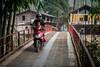 morning crossing (grapfapan) Tags: vietnam travel sapa mountains bridge motorbike village