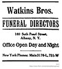 1913 watkins brothers funeral directors (albany group archive) Tags: albany ny history 1913 watkins brothers funeral directors south pearl street mortuary undertakers old historical vintage picture photo photograph