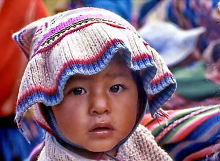 La Paz: Runny nose child in the street