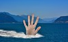 Hand Of Bigfoot (swong95765) Tags: hand wake moutains spray giant mountain pacificnorthwest water ocean
