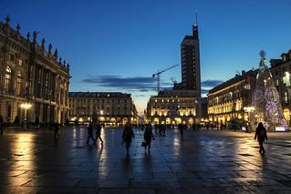 Torino by night - Piazza castello lato ovest