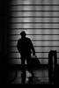 [ Via - Away ] DSC_0154.3.jinkoll (jinkoll) Tags: silhouette bnw blackandwhite bw bn man passing street people hat newyork nyc manhattan step timessquare geometry lines