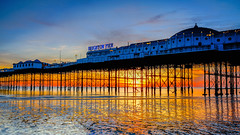 All that glitters...is gold (SpectrumLight) Tags: landscape waterscape england brighton pier sunset gold goldenhour glitter structure architecture engineering southeastengland sony sonyilce7m2 a7ii alpha fe1635mmf4zaoss shoreline reflection water sand travel ng light