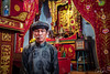 Homme de Temple (Zoom In, Click On, Check Out) Tags: vietnam people temple old man preiest priest colour portrait real