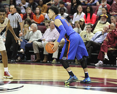 IMG_7152a Chris Chiozza 11 on FSU Logo (dbadair) Tags: florida uf gators sec basketball ncaa o'connell center gainesville