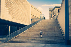 Stairway (ivanmuscat) Tags: mlt architecture building city malta parliament stairs valletta walkway lines people sky design