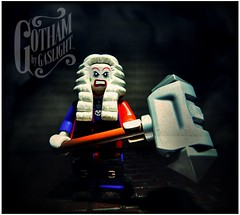 The Joker, Gotham By Gaslight (LegoKlyph) Tags: lego brick block mini figure custom joker batman gotham dc comics clown judge steampunk gaslight