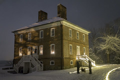 William Brown House (johngoucher) Tags: approved williambrownhouse historic history annearundelcounty maryland historiclondontown illuminatedlondontown optoutside nightscape snow snowy winter christmas merrychristmas deckthehalls zeiss zeisslens sonyimages sonyalpha
