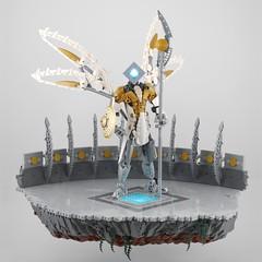 The Herald (Anthony (The Secret Walrus) Wilson) Tags: lego moc afol bionicle harbinger angel robot creation tfol system