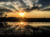 Reflective Sunset... (Diana Kae) Tags: reflection sunset missouri kansascity pond reflective water dianakae dianaobryan dianawhite landscape landscapemissouri ruralamerica rural fence whitefence