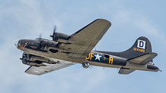 Memphis Belle - Fly By (4myrrh1) Tags: andrews md 2017 military ww2 wwii aircraft airplane aviation airshow airplanes airport airforce afb bomber b17 memphis belle memphisbelle propeller prop canon ef100400l 7dii