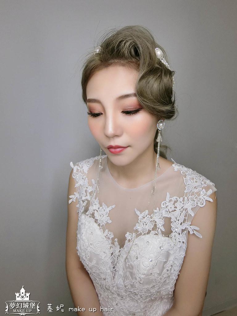 【新秘蓁妮】新娘造型創作 / 輕復古波紋