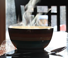 Steaming (Cindy's Here) Tags: steaming steam bowl soup canon