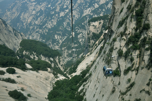 cable car, Hua Shan
