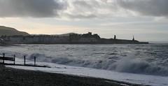 Grey Skies Over Aberystwyth (Canis Major) Tags: aberystwyth bay waves cloudy tower ysywyth rheidol university ceredigion
