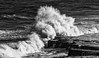 Choppy Filey Brigg (mikedenton19) Tags: waves swell storm power filey brigg fileybrigg eastyorkshire coast black white bw