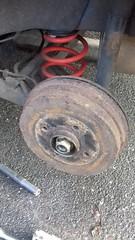 Nissan Note 2006 rear wheel bearing swap 1 of 5 (DrJohnBullas) Tags: nissan note 2006 rear axle wheel bearing replacement