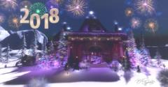 Happy New Year 2018 (-: :- Brit Applewhyte -: :-) Tags: 2018 calasgladhornholidaysim fireworks dancepavilion christmastrees happynewyear winterfun snow