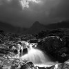 After the Storm (omarkhyam600) Tags: fairy pools isleofskye scotland pentaxk5 monochrome landscape water cuillins storm dramatic