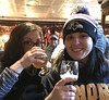 Danielle and Andrea at Federal Pub in Annapolis with cute frat boy photo bombing us - Christmas 2017 (litlesam1) Tags: danielle andrea annapolis christmas2017 december2017
