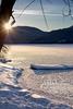 Frozen (LadyBMerritt) Tags: ice iceflowers sun sunset dock frozen winter