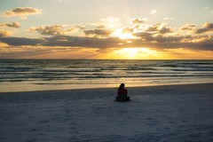 Arctic vortex aka bomb cyclone as viewed from Siesta Key in Florida (beyondhue) Tags: siesta key beach sunset sand person sit beyondhue southwest florida usa travel sarasota sky cloud sun ray ocean sea water horizon meditation quiet contemplate weather