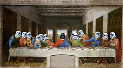 The Last Galactic Supper (Lightcrafter Artistry) Tags: starwars empire darthvader stormtrooper photoshop art collage davinci thelastsupper parody