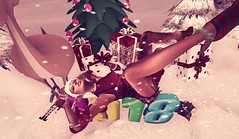 ☽O☾Santa Naughty Elf ☽O☾ (bexhaven) Tags: body boots hair jewelry outfit pose scenery skin tattootags2018 boa christmas dress elf elfie eri escalated harness immotaldoll manipulation muggleborn naughty sexyprincess snow socks somethingnew toxicdolls xmas