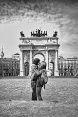 LOVERS (Masssimiliano Maggi) Tags: seleziona street persons people bw lovers girl boy italia torino maxmaggifecit soe